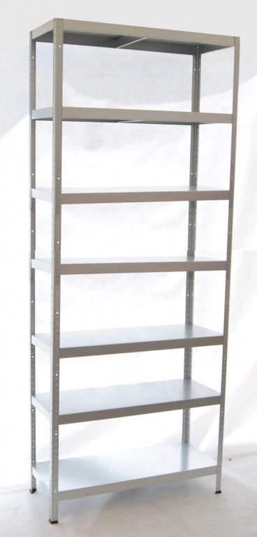 biedrax kovov reg l 40 x 60 x 270 cm 7 polic x 100 kg foto 1. Black Bedroom Furniture Sets. Home Design Ideas