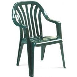 Zelená plastová záhradná stolička 260GF