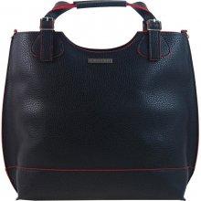 Grosso moderná dámska shopper kabelka S581 Čierno-červená e22af51d18d