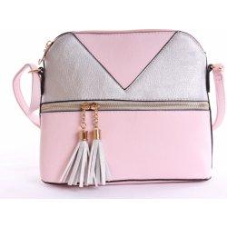 2fef6cae47 dámska kabelka cez plece ružovo-strieborná alternatívy - Heureka.sk