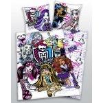 HERDING obliečky Monster High lebky bavlna 140x200 70x90