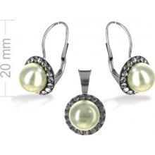 0191efe3f Argento strieborná súprava so Swarovski elements perla bl diamon 4019200