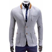 3d3e5e625237 Ombre pánské sako blazer M07 grey