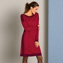 8f7014e8f08d Blancheporte Pletené šaty s lodičkovým výstrihom červená