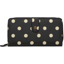 Miss Lulu Praktická peňaženka čierna bodkovaná c15f978b3dd