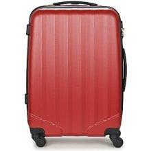 David Jones Pevné cestovné kufre CHAUVETTA 69L Červená