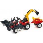 FALK Šliapací traktor 2065AM Kubota s nakladačom a vlečkou