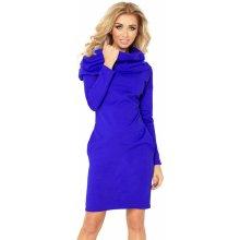 12474c60ccf Modrofialové šaty s rolákom 131-2