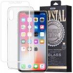 Púzdro REMAX Priehľadné + 3D ochranné sklo Apple iPhone X / XS biele