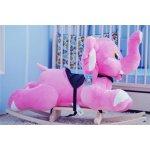 Smyk Hojdacia plyšová hračka ružový slon