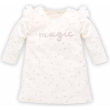 Pinokio Dievčenské šaty s hviezdičkami Magic béžové 4b1f310df67