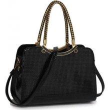 kabelka fashion grab so zlatými doplnkami čierna ca6085e3b03
