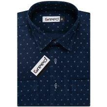 AMJ Greed SDM Manšestrová pánská košile 360 noční modř