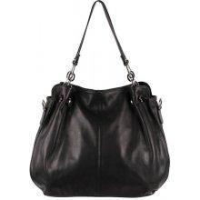 Made In Italy kožená kabelka 842 čierna bb1b77fa85d