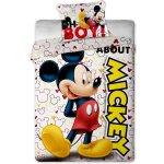 JERRY FABRICS Obliečky Mickey 2014 micro polyester 140x200 70x90