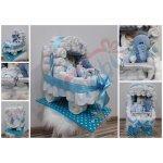 Darčeky-Bambi Plienková torta kočík modrá so sloníkom