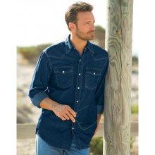 Blancheporte Riflová košeľa modrá
