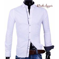 4983442ca9c1 Ego Man Elegantná biela pánska košeľa 30016-EM-308 alternatívy ...