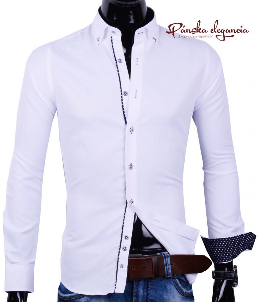 6264020d0149 Pánska košeľa Ego Man Elegantná biela pánska košeľa 30016-EM-308 ...
