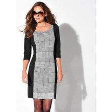 Blancheporte šaty z úpletu Milano čierna/biela