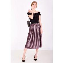 b54a2d7a606d Stredne dlhá plisovaná sukňa fialová