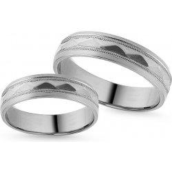 3ae526a87 iZlato Design Zásnubné prstene z bieleho zlata s gravírom, šírka IZOB117A