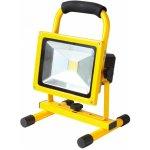 HOME LED reflektor 20W, prenosný, nabíjací FLB 20 LED/YE