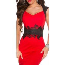 Púzdrové šaty čipka červená od 37 8cfe7e04e21