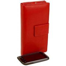 BRANCO Nemecko dámska červená peňaženka s prackou XXL