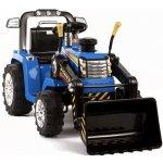 JBM elektrický traktor pre deti s radlicou 12V modrá