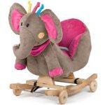 Kinderkraft Húpací sloník so zvukom ružový
