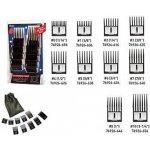 Oster Clipper comb attachments - hrebeňové nádstavce na strihací strojček  set 10 ks - č. 70f6d998abf