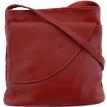 dafdb71c6 dámska kožená kabelka červená crossbody V404 V404