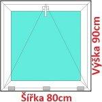 Soft Plastové okno 80x90 cm, sklopné