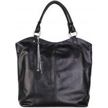114c94e99d Talianska čierna veľká kožená kabelka shopperka Damiana