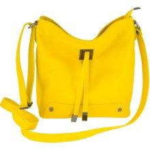 Made In Italy kožená kabelka na rameno 825 žltá fd89837fa92