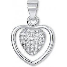 Brilio Silver Strieborný prívesok Srdce s kryštálmi 446 158 00062 f04a8bcaabc