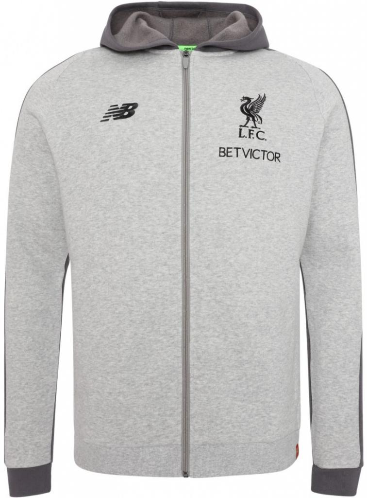 Futbalový dres New Balance Liverpool FC mikina šedá pánska ... fb044192f8