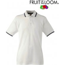 Fruit of the Loom TIPPED POLO White Deep Navy