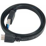 Akasa AK-CBUB13-15BK vysokorýchlostný USB 3.0 A - micro B, 150cm, černý