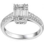 iZlato Forever Zásnubný prsteň z bieleho zlata s baguette diamantmi 1.020 ct  IZBR698 acfd288ba10