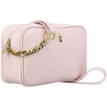 Wojewodzic malé luxusné kožené kabelky crossbody 3174 ružové 40d4201b745
