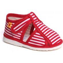 papuče červený pásik Detská