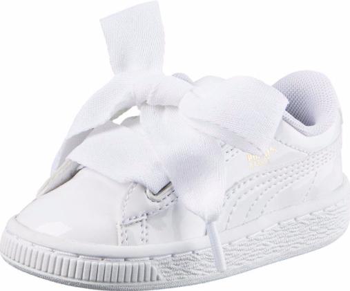 Puma Dievčenské tenisky s mašľou biele 111949d6258