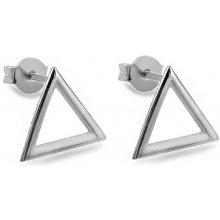 iZlato Design strieborné napichovacie náušnice Trojuholníky IS2427 8d4e55ef678