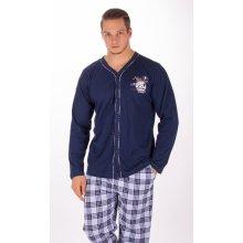 Richard pánské pyžamo dlouhé tm.modré
