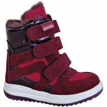 3fba420c40 Protetika Dievčenské zimné topánky Ebony červené