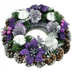 f2bcf095e Recenzie Vianočný adventný veniec fialový III - Heureka.sk