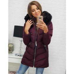 65a0ddd4a437 Dámska bordová prešívaná zimná bunda s kapucňou ty0306 alternatívy ...