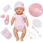Zapf Creation Interaktivní panenka Baby born 43 cm holčička